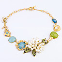 Women's European and American Fashion Brand Luxury ms Pearl Flower Necklace