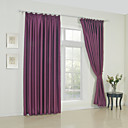 (Two Panels) Modern Stylish Solid Blackout Curtain