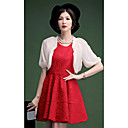 Half Sleeve Chiffon Party/Casual Wraps With Detachable Fur Collar(More Colors) Bolero Shrug
