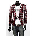 Men's Fashion Plaids Blazer
