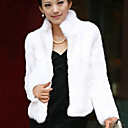 Long Sleeve Standing Faux Fur Party/Casual Jacket(More Colors)