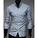 Men's Classic Color Plaids Causal Shirts