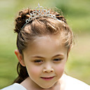 Liga clássico com strass Flower Girl Tiaras / Headbands