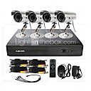 4 Channel CCTV DVR System (4 Utendørs Kamera med 15m Night Vision)