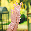 Wrist Length Fingertips Glove - Lace General Purposes & Work Gloves/Bridal Gloves/Party/ Evening Gloves