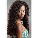 20inch Malaysian Curly Indian Remy Human Hair Lace Front peruker för mode Lady