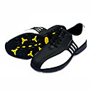 Men's White+Black Sneakers Anti-skid Polyurethane Leather Golf Spike Shoes