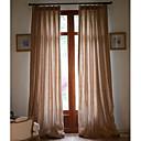 (Deux panneaux) solide lin / coton classique rideau écologique (brun)