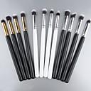 New Pro MakeUp Cosmetic Set Eyeshadow Foundation wood Brush blusher Tools 4 PCs SV000966