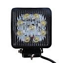27W 1680LM 6000K Square Car LED Work Light Waterproof Flood Beam Lamp for SUV Truck 4WS (DC9-32V)