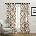 (Two Panels) Country Colorful Blooming Flowers Blackout Curtain