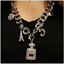 Tower Perfume Bottles  Set Auger 5 Words  Women's Necklace