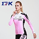 MYSENLAN  Women's Breathable Polyester Summer and Autumn Pink Long Sleeve Cycling Suit