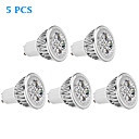 5 pcs GU10 4 W 4 High Power LED 330 LM Warm White MR16 Spot Lights AC 85-265 V