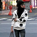 Hoodies Aux femmes Manches Longues Grandes Tailles / Décontracté Coton Epais