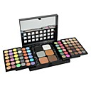 Professional 78 Color Make Up Palette 72 Color Eyeshadow + 6 Color Foundation Face Powder with Brush Makeup Set