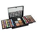 professionel 78 farver make up palette 72 farver øjenskygge + 6 farve foundation pudder med børste makeup sæt
