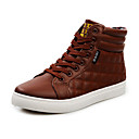 Men's Shoes Outdoor/Casual Faux Leather Fashion Sneakers Black/Brown/Yellow/White