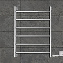 60W Towel Warmer 304# Stainless Steel Mirror Polished Drying Rack Wall Mount