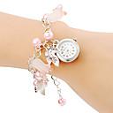 Women's Flower Pendant Alloy Band Quartz Bracelet Watch