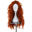 New BRAVE Movie MERIDA Long Curly Orange Anime Cosplay Paruka