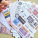 matasellos palabra scrapbooking decorar stickers (6pcs)