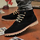 Men's Shoes Casual Faux Leather Boots Black/Blue/Yellow/Green