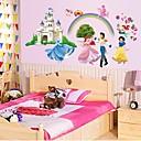 doudouwo® 벽 스티커 벽 데칼, 피플 왕자와 공주 백설 공주의 PVC 벽 스티커