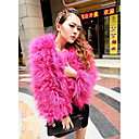 Nice Thick Long Sleeve Collarless Faux Fur Jacket(More Colors)