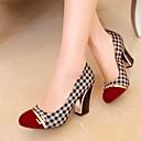Zapatos de mujer - Tacón Robusto - Punta Redonda - Tacones - Vestido - Semicuero - Negro / Rojo / Naranja
