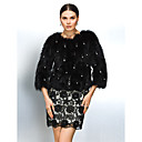 Fur Coat Long Sleeve Collarless Raccoon Fur Party/Casual Jacket(More Colors)