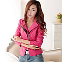 Long Sleeve Turndown PU Special Occasion/Casual Jacket(More Colors)