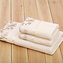 cadeau de Noël microfibre serviette de bain et serviette de dentelle, jeu de 3
