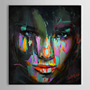 Oil Paintings One Panel Lady Face Portrait Pop Art  Hand-painted Canvas Ready to Hang