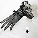 Wrist Length Fishnet Glove Tulle Bridal Gloves
