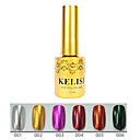 1pcs kelisi professionale del gel di colore uv metallo no.1-6 (12ml, colori assortiti)