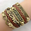 Women's Stylish and Beautiful Hand-woven Leather Cord Bracelet