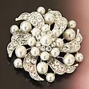 Ladies'/Men's/Kid's/Unisex/Couples'/Women/Women's Pearl/Alloy Brooch Silver