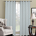 Classic Overlapped Geometric Curtain (Two Panels)