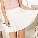 puro de mini falda de color de las mujeres