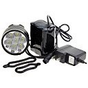 3-Mode 7xCree XM-L T6 LED Lanterna de Bicicleta (7000LM, 4x18650, Black)