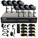 TWVISION® 8 Channel One-Touch Online CCTV DVR System(8 Outdoor Warterproof Camera)