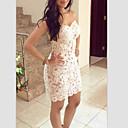 Women's Mesh Splicing Lace Bodycon Dress