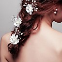 Floral Wedding/Party Bridal Hairpins with Crystals with Imitation Pearls (3 pieces/set)