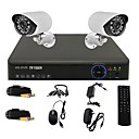 TWVISION® 4CH Channel 960H HDMI CCTV DVR 2x Outdoor 800TVL Security Camera System