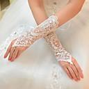 Handschuh Ellenbogen Länge Tüll Brauthandschuhe