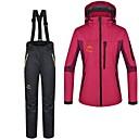 Femme Ski Ensemble de Vêtements/Tenus / Pantalon / Anorak 3 en 1 Etanche / Garder au chaud Rouge Ski / Camping & RandonnéeS / M / L / XL veste femme