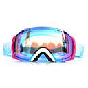 バスト防風白枠青センサースキースノーゴーグル