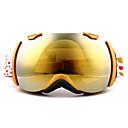 バスト古典防風金色のフレームミラーレンズスキースノーゴーグル