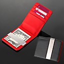 Gift Groomsman Wedding Gift Personalized Engravable Leatheroid Red Black Silver Wallet Money Clip